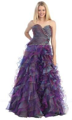 Strapless Layered Ruffle Prom Dress Long Wedding « Dress Adds Everyday