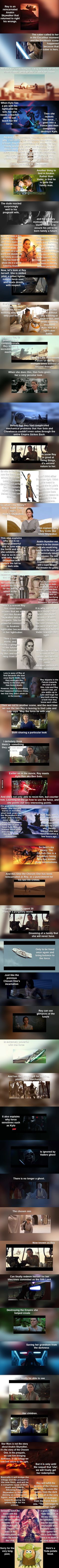 Rey is a reincarnated Anakin Skywalker that returned to right his wrongs.