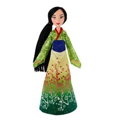 Join Mulan for shimmering adventures with her dazzling green ombre gown with glitter print detailing. Play out your magical moments from Disney's Mulan and imagine your own fairy tale with Mulan. This is the perfect doll for any Disney Princess fan! Disney Princess Doll Collection, Disney Princess Movies, Princess Gifts, Princess Toys, Barbie Collection, Mulan Doll, Disney Dolls, Barbie Dolls, Barbie Furniture
