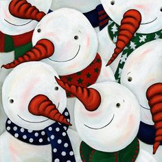 Snowmen: the more you have , the Happier you are!