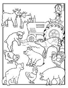 A lot of farm animals pictures for coloring  LEUKE KLEURPLAAT VOOR COOPERATIEVE OPDRACHT