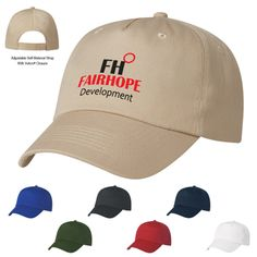 This promotional custom 5 Panel Polyester Cap lets you show off your custom logo design at an affordable cost. Let your next promotional event feature a ball cap that won't break the bank, but will still turn heads.  100% Polyester 5 Panel, Medium Profile Unstructured Crown And Pre-Curved Visor Adjustable Self-Material Strap With Velcro Closure this cap comes screen-printed; ask about embroidery options