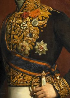 Nicolaas Pieneman: Portrait of J. J. Rochussen (detail) Embellishment