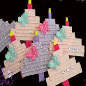 birthday cake hairbow