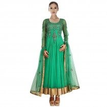 Green Color Anarkali Suit