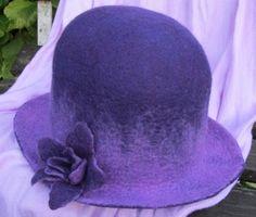Purple and violet felt hat