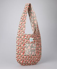 Loving this Red Vintage Flower Reversible Tote on #zulily! #zulilyfinds