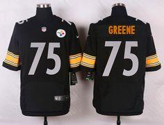 ... Mens NFL Pittsburgh Steelers 75 Joe Greene Black Elite Jersey Nike  Steelers 75 Joe Greene YellowBlack Alternate 80TH Throwback ... d82d6b905