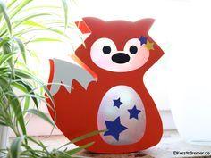 Fuchs Laterne Bastelanleitung mit Bastelvorlage ♥ von kerstinbremer.de. So cute! Fox lantern ♥ #diy #basteln