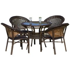 Patio Furniture Sets - Best Selling 5Piece Avondale Wicker Dining Set ** Check this awesome product by going to the link at the image.