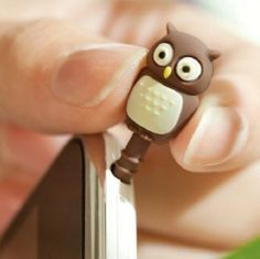 Min.order is $5 (mix order) Chick penguin owl cartoon stereo mobile phone dust plug for iphone earphones 4 4s plug 6 10g