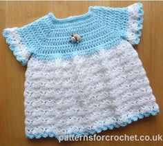Free crochet pattern for baby http://www.patternsforcrochet.co.uk/cute-dress-usa.html  #patternsforcrochet