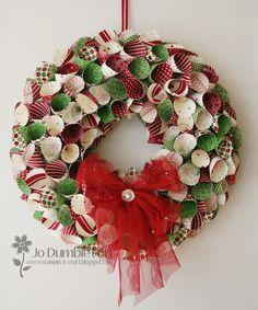 Stampin 'n Stuff: 'Be of Good Cheer' Christmas Wreath