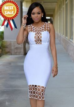 Naples white gold decor luxe bandage dress needs inserts. Sexy Dresses, Cute Dresses, Beautiful Dresses, Evening Dresses, Party Dresses, African Attire, African Wear, African Dress, Latest African Fashion Dresses
