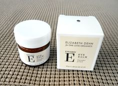 Vitamin E Eye Balm from One Love Organics by Elizabeth Dehn - Love this b/c it's a balm and not a messy serum or runny lotion. #sponsored beauty review The Classy Chics blog.