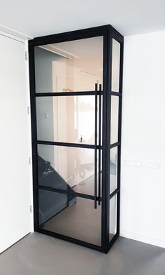 Black Steel Doors With Glass – The Marble Home Home Living Room, Living Room Designs, Door Dividers, Flooring For Stairs, House Stairs, White Doors, Steel Doors, Living Room Inspiration, Simple House