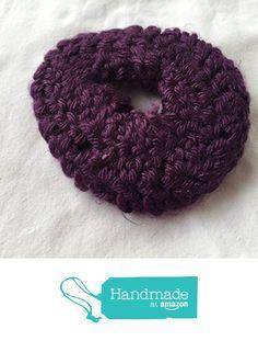 Dark Purple Crocheted Scrunchie from Southern Women Crafts https://www.amazon.com/dp/B01NCHJRL3/ref=hnd_sw_r_pi_dp_0CP8ybCS6W7A5 #handmadeatamazon