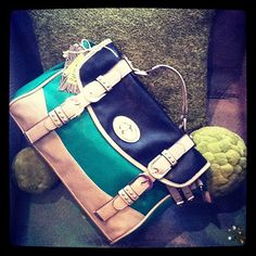 classic color block...kelly green handbag!