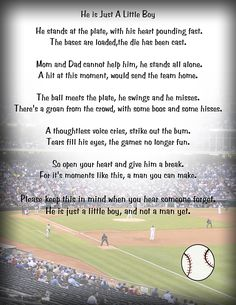 All baseball parents need to read this to be reminded.