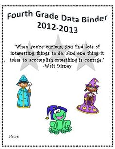 4th grade data binder