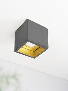 GANTlights [B7]dark Deckenspot quadratisch