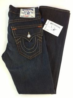 True Religion Mens Straight Legs Jeans