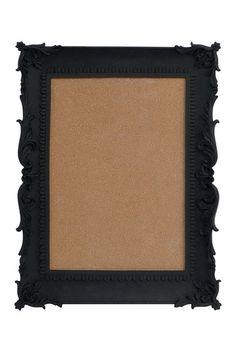 Black Rectangle Cork Board by Interior Illusions on @HauteLook