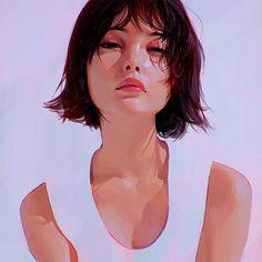 White Shirt by Ilya Kuvshinov
