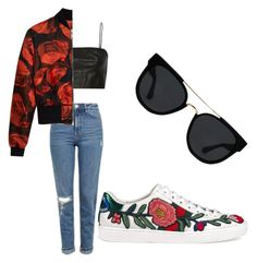 """""""Roses 🌹"""" by lillian-04 ❤ liked on Polyvore featuring Gucci, T By Alexander Wang, Topshop, Quay and Mulberry"""