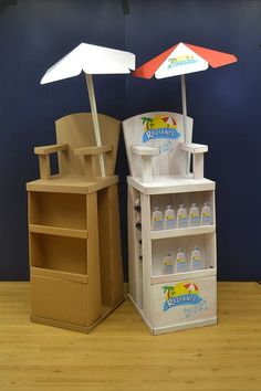 Sun protection display stand.