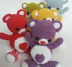 Tutorial Oso Corazón Amigurumi Heart Teddy Bear (English subtitles) (+li...