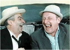 Louis de Funès & ?? I'd love to hear what's funny with those two.  lol