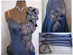 lavender purple blue floral crystal bodice design modern dress