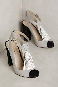Guilhermina Tassel T-Strap Heels