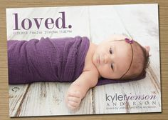 Baby Girl, Baby Boy Birth Announcement: PRINTABLE (Loved photo baby announcement) on Etsy, $15.00