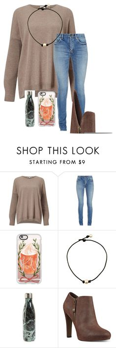 """Happy Thanksgiving y'all"" by kristie-thompson78 ❤ liked on Polyvore featuring Autumn Cashmere, Yves Saint Laurent, Casetify, S'well and Nine West"