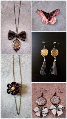 J'avais envie de créer des bijoux… J'aime les bijoux et j'aime encore plus me les fabriquer depuis que j'ai commencé. Dernièrement, j'ai utilisé de la résinecri…