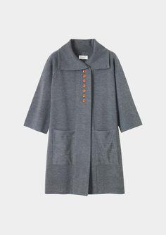 coat, merino knit - toast