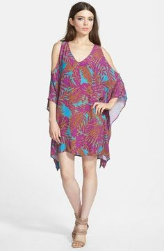 ASTR Cold Shoulder Shift Dress available at #Nordstrom for only $44 on clearance this makes a perfectly affordable summer frock