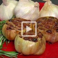 How to roast garlic video.