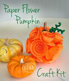 DIY Paper Flower Pumpkin DIY Fall Crafts DIY Halloween Décor
