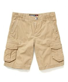 Khaki Dino Cargo Shorts - Toddler & Boys by Blow-Out on #zulily #fall