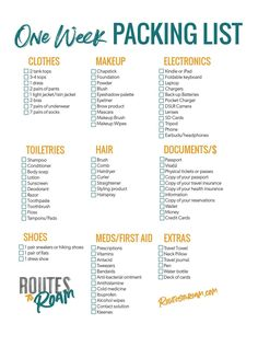 Travel Packing Checklist, Printable Packing List, Packing List For Vacation, Packing Tips, Travel Tips, What To Pack For Vacation, Travel Hacks, Travel Destinations, Vacation Checklist