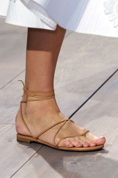 Gladiator shoes took over the Spring 2015 runways. See the rest of our favorite shoe trends here: