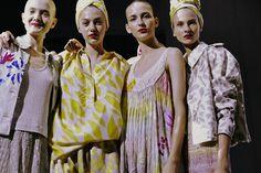 Multi-colored dresses and silk turbans at Missoni Spring 2015