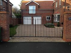 Curved Top Steel gate installed in Hessle, East Yorkshire Driveway Entrance, Entrance Gates, Double Swing, Electric Gates, Steel Gate, East Yorkshire, Curve Tops, Iron Steel, Gate Design