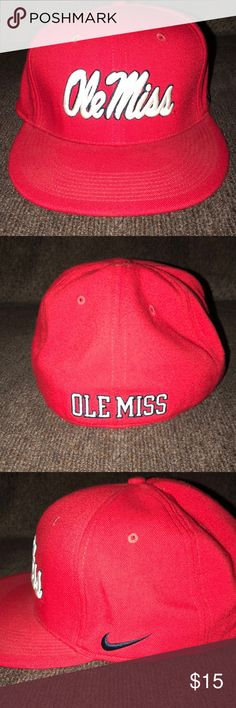 c1e49892e6c Nike Dri-fit Ole Miss fitted hat LIKE NEW! GENTLY USED! Size men s