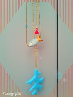 coral and fish necklaces