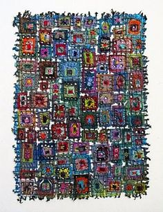 Stained Glass needlework: Susan Lenz