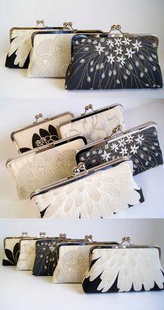 EllenVintage  Brocade Velvet Clutch, Wedding bag, Bridal clutch, Wedding purse, Gift ideas, Perfect Vintage Look. $65.00, via Etsy.